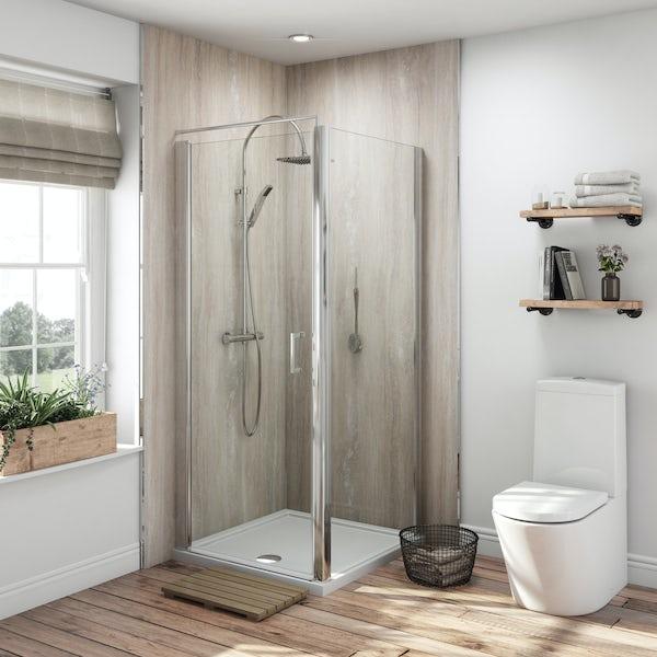 Multipanel Classic Jupiter Silver Hydrolock shower wall panel