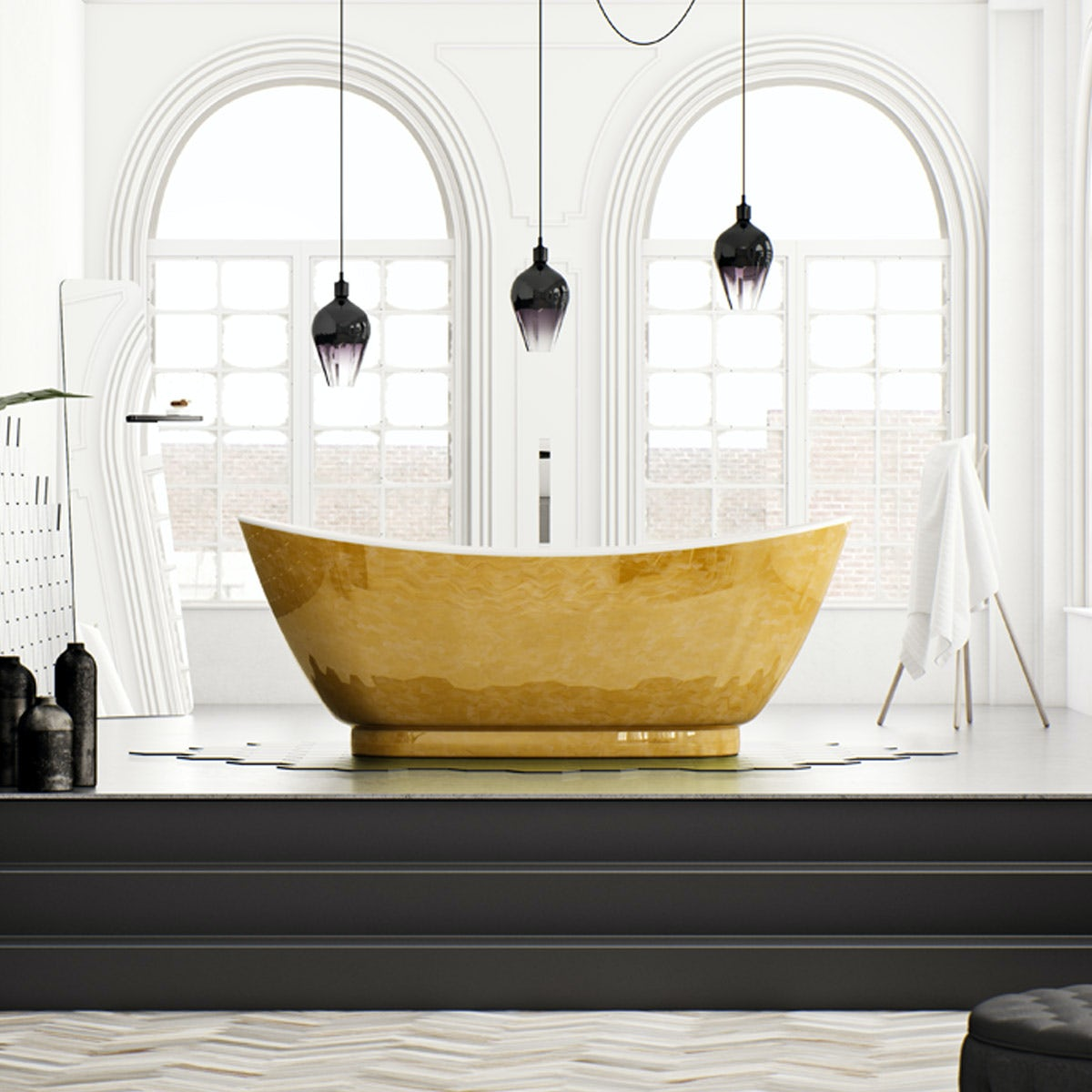 Belle De Louvain Galvez Gold Design Freestanding Bath