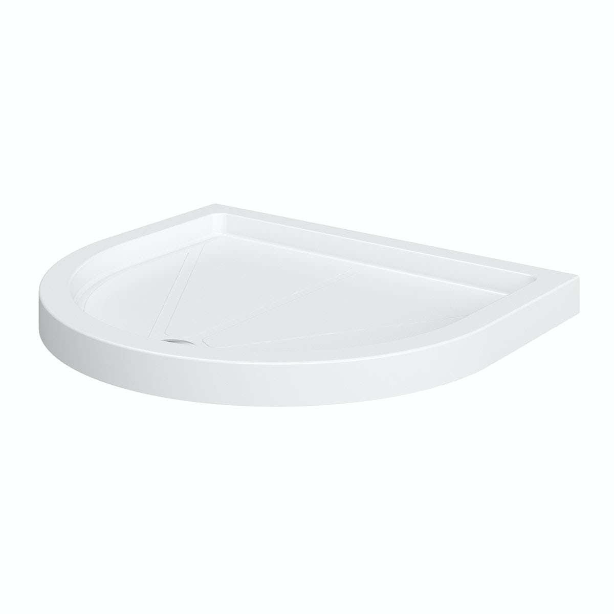 Orchard D shaped stone shower tray