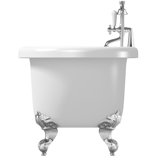 The Bath Co.Dulwichroll top bath with ball and claw feet offer pack