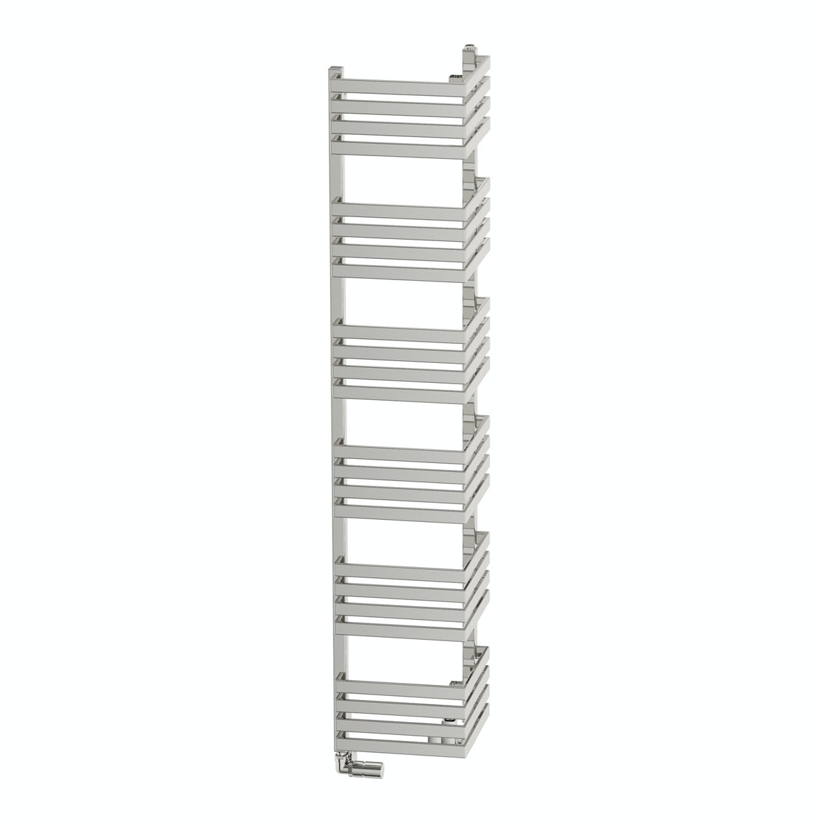 Terma Outcorner chrome effect heated towel rail 1545 x 300