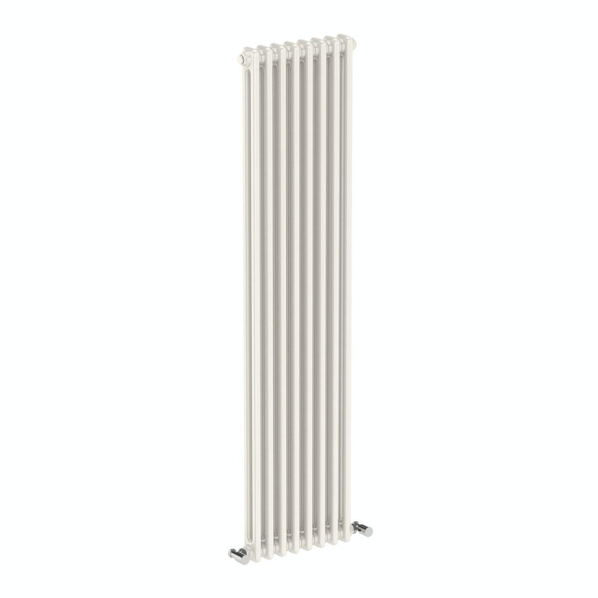 Dulwich vertical white double column radiator 1500 x 378