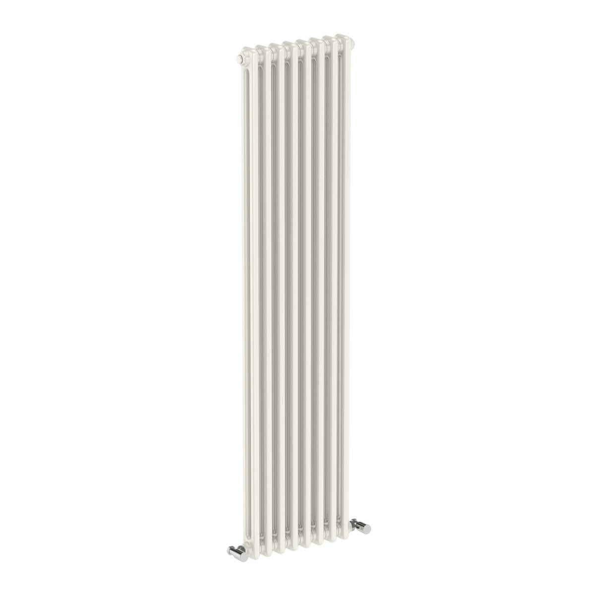 Dulwich vertical white double column radiator 1500 x 378