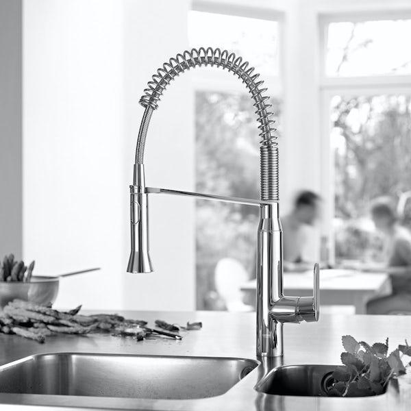 Grohe K7 Profi-spray medium kitchen tap