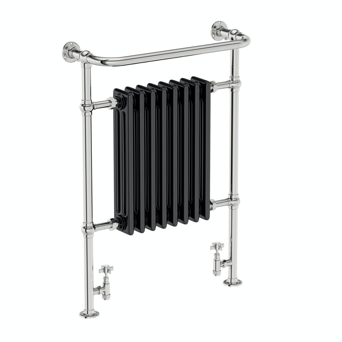 The Bath Co. Dulwich black traditional heated towel rail 952 x 659