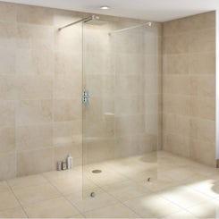 Premium 10mm wet room glass panel 1050mm