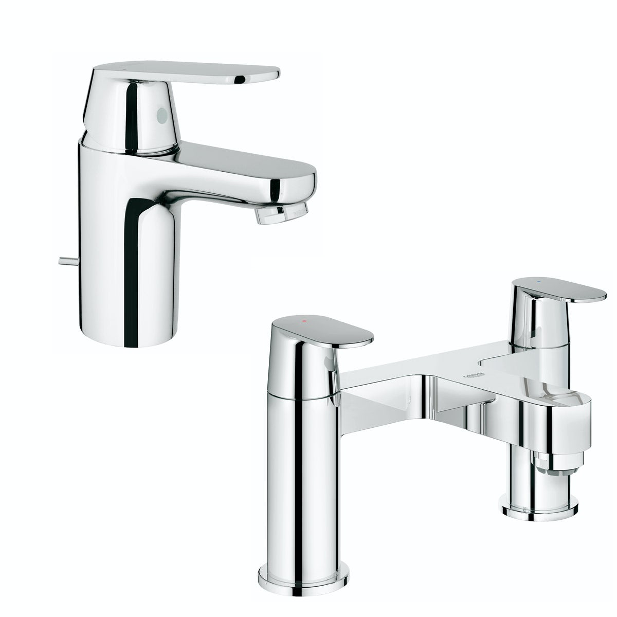 Grohe Eurosmart Cosmopolitan  basin and bath mixer tap pack