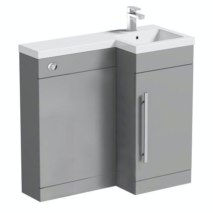 Orchard MySpace grey right handed combination unit including concealed cistern