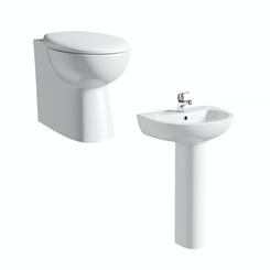 Simplicity back to wall toilet suite with full pedestal basin 540mm