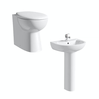 Simple BTW Toilet and Basin Suite