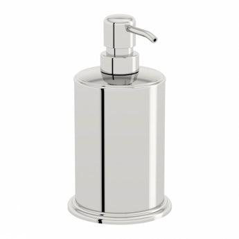 Options freestanding stainless steel soap dispenser