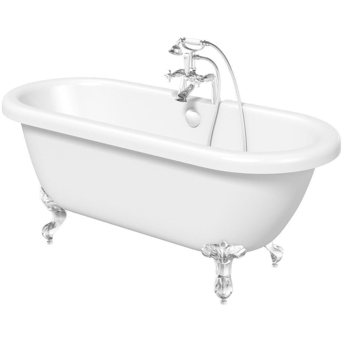The Bath Co. Dulwich roll top bath with ball and claw feet offer pack