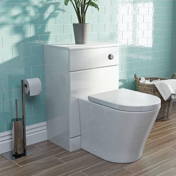 Eden white back to wall unit with Mode Arte toilet