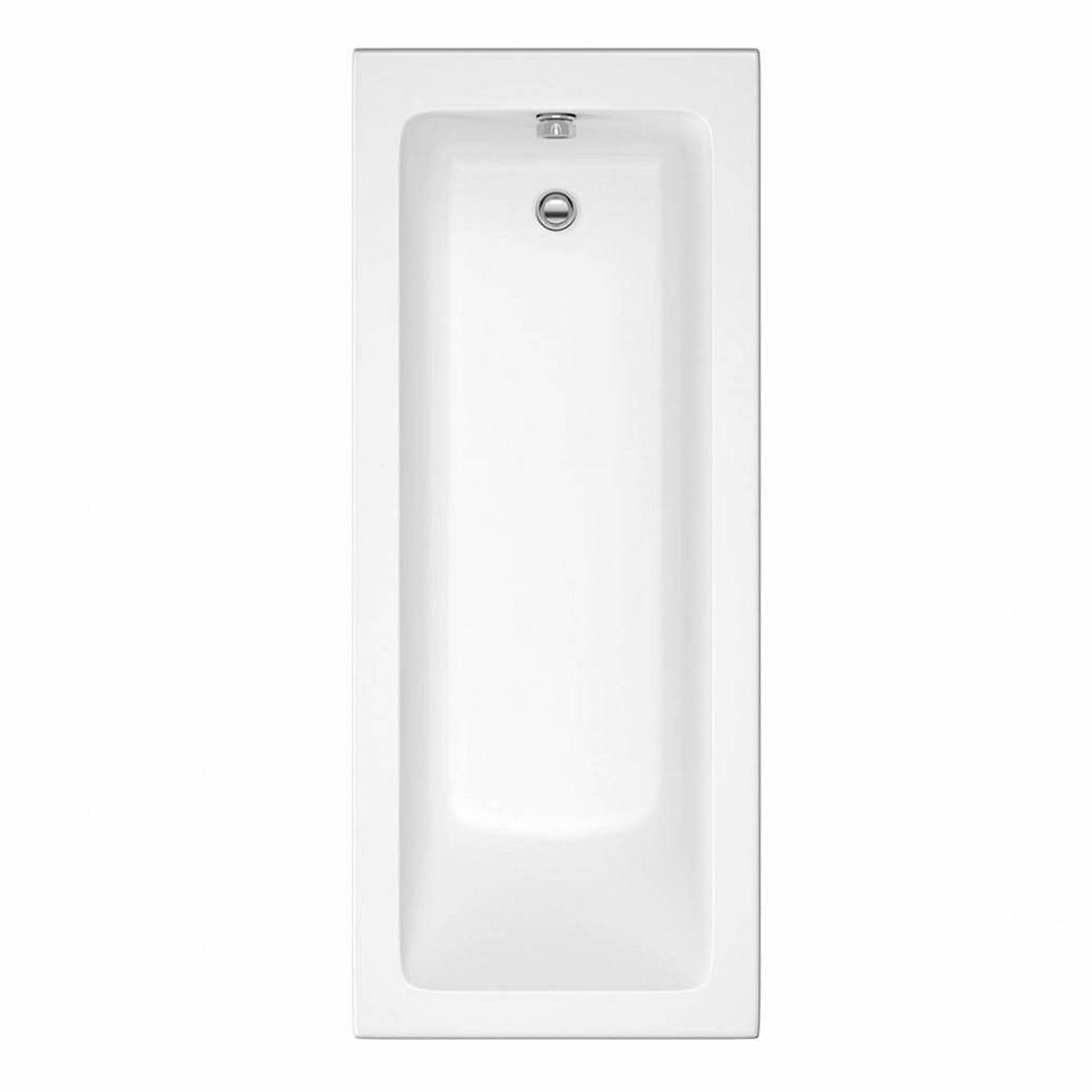Orchard square edge single ended straight bath 1700 x 700