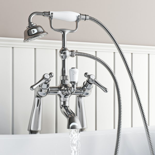 The Bath Co. Camberley lever basin pillar and bath shower mixer tap pack