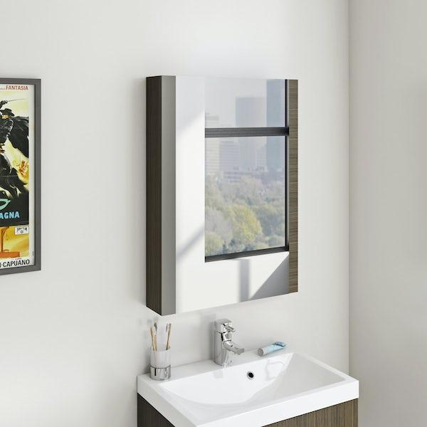 Wye walnut mirror cabinet