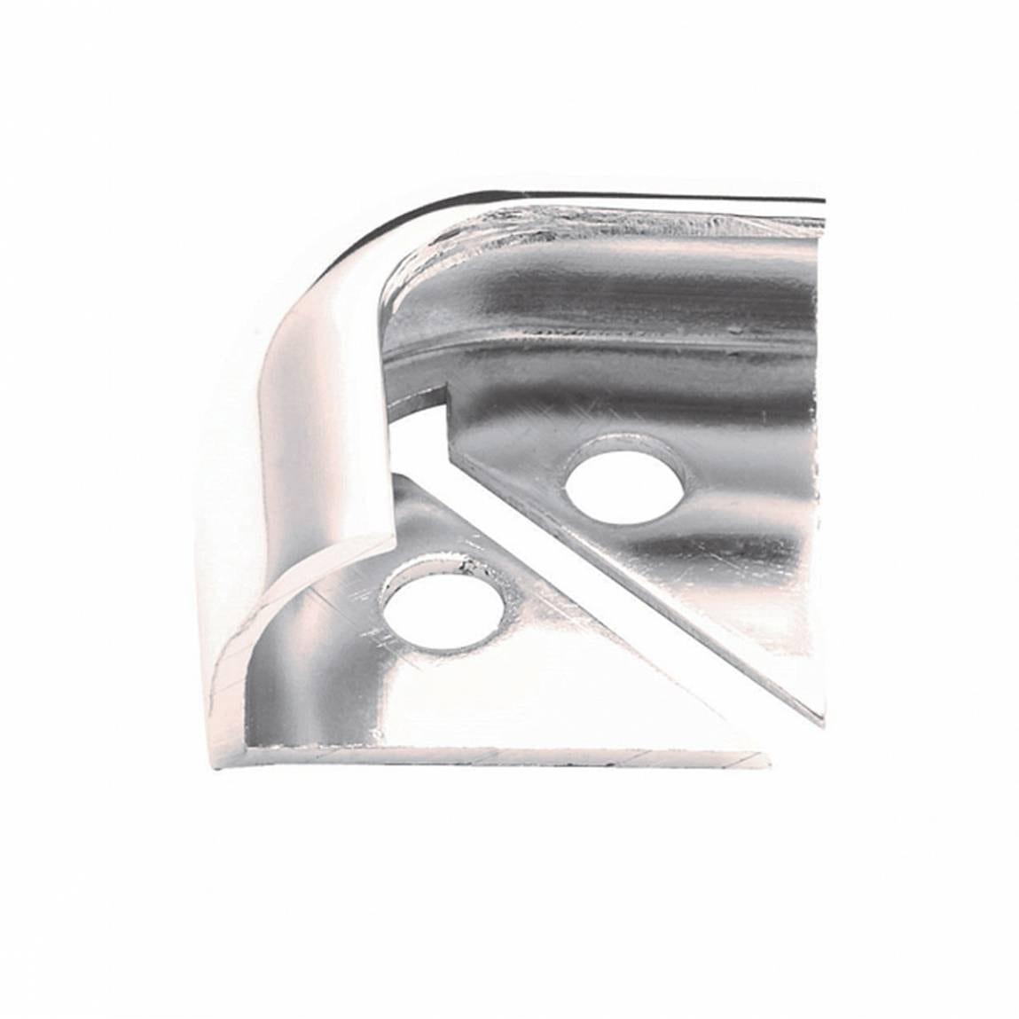 Aluminium Silver Effect Trim Corners (Pack of 2)