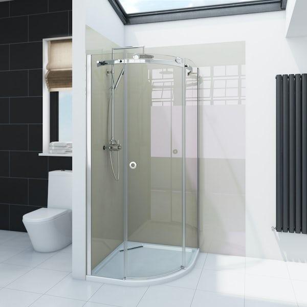 Zenolite plus stone acrylic shower wall panel 2070 x 1000