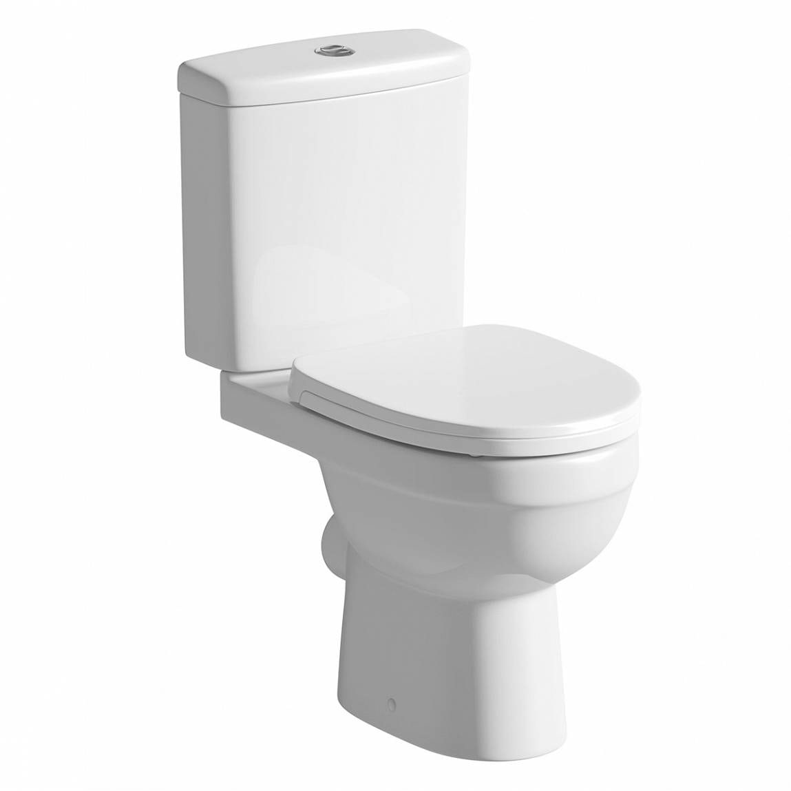Orchard Eden close coupled toilet with soft close toilet seat with pan connector