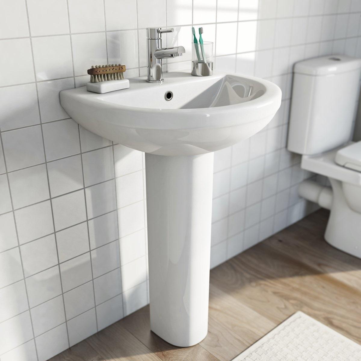 Eden 1 tap hole full pedestal basin