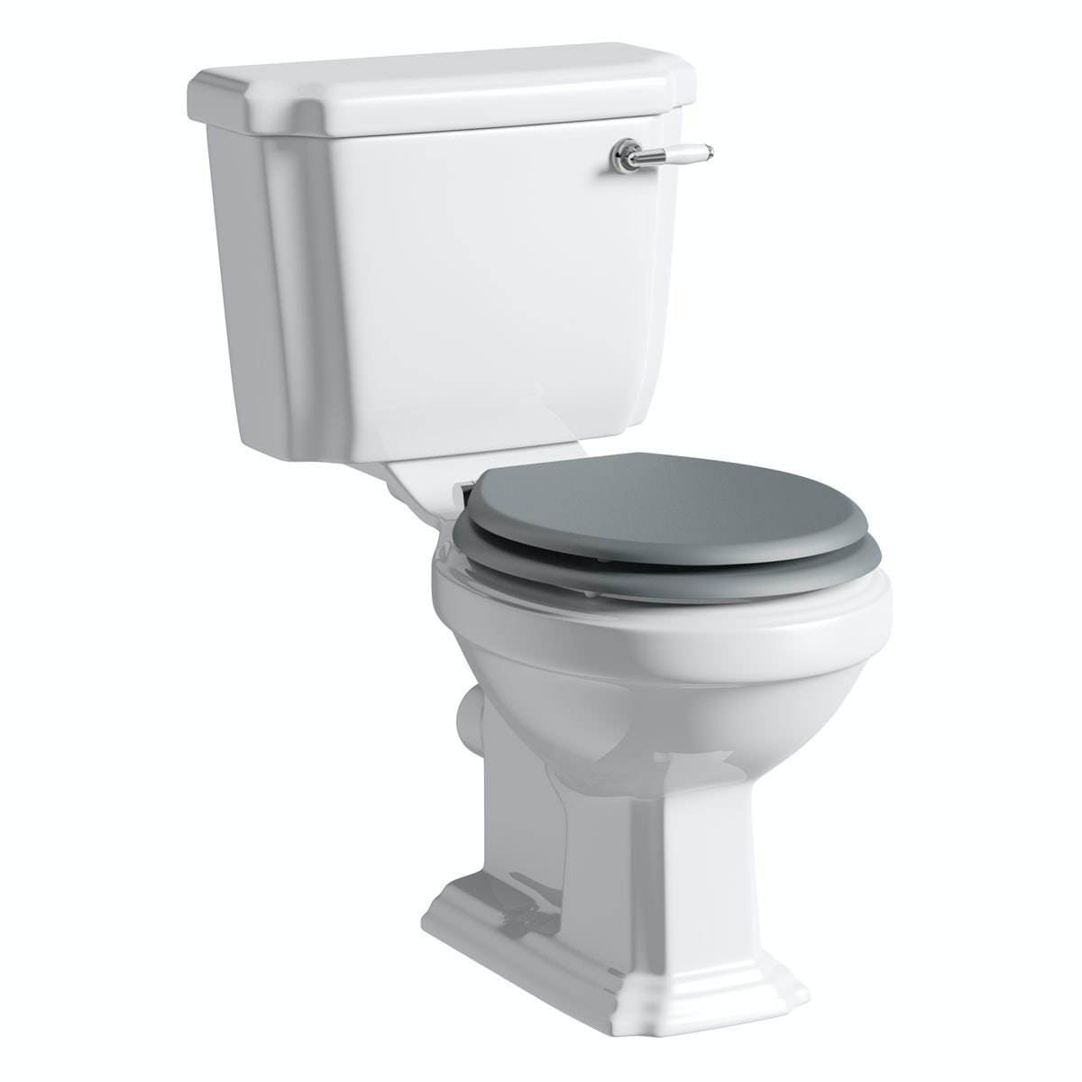 The Bath Co. Dulwich close coupled toilet inc grey soft close seat