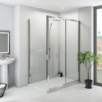Multipanel Classic Frost White unlipped shower panel 2400 x 1200