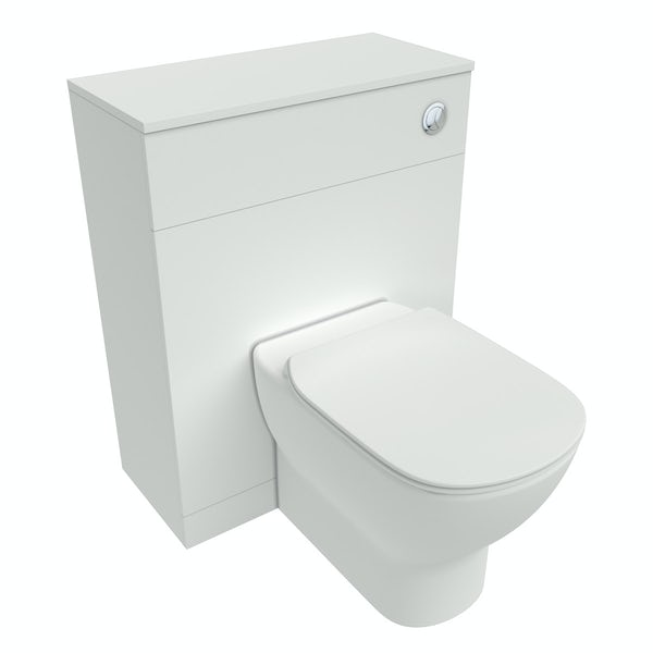 Ideal standard tesi white back to wall unit toilet with for Diagonal ideal standard