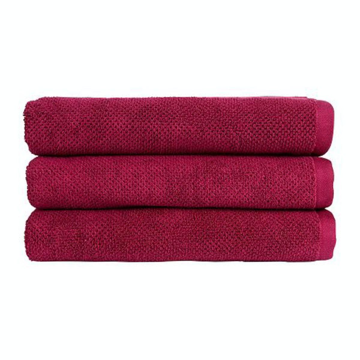 Christy Brixton magenta bath towel