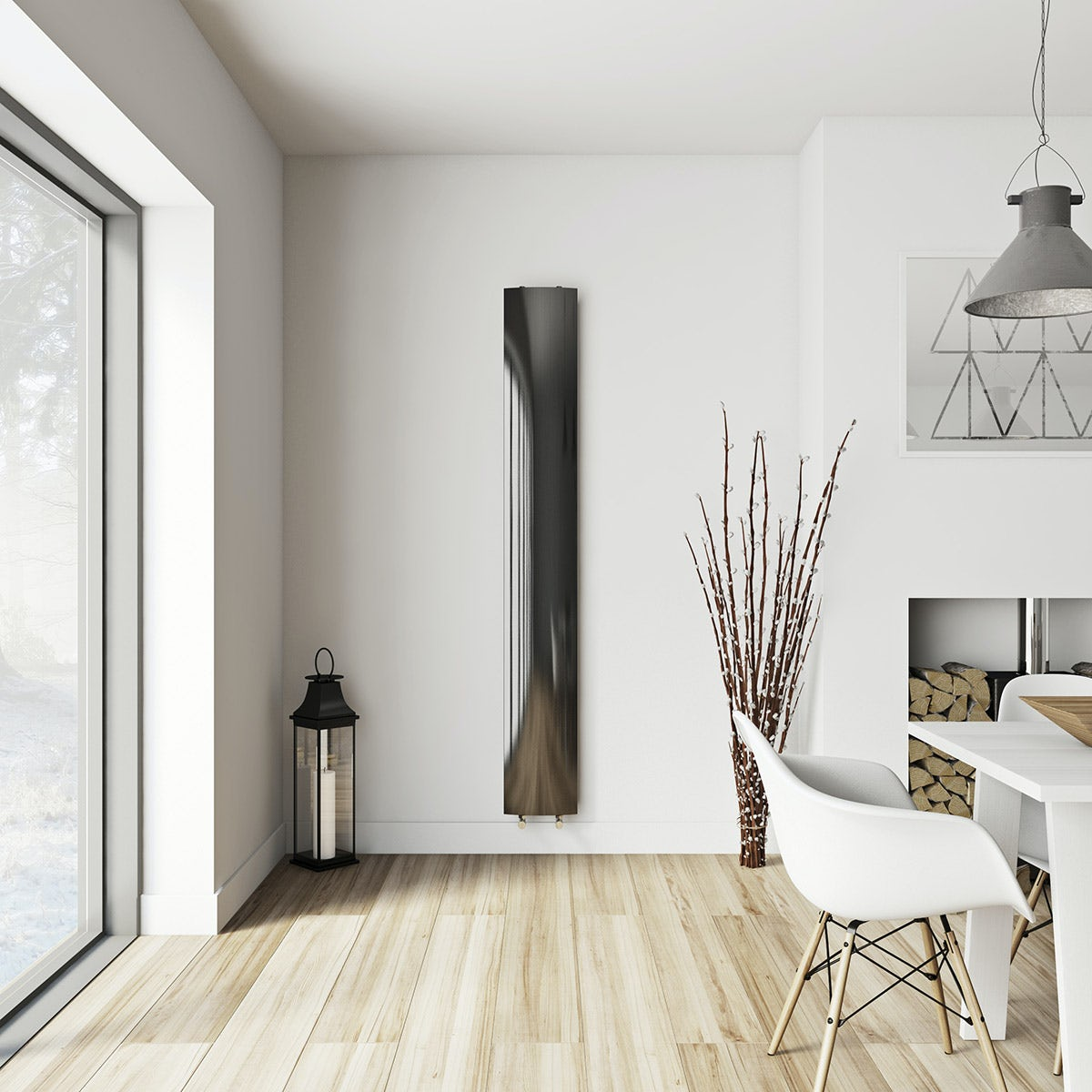 Korlea black vertical radiator 2000 x 280