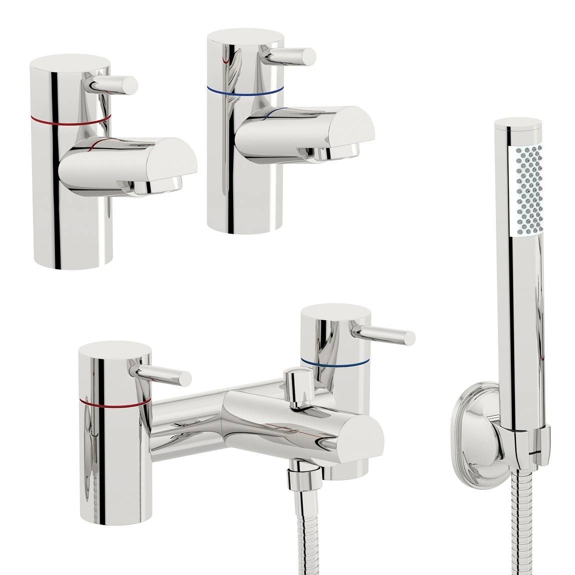 Orchard Wharfe basin tap and bath shower mixer tap pack