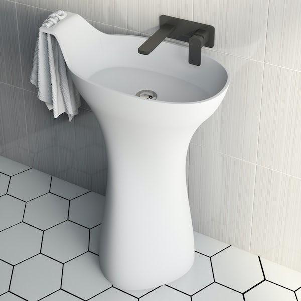 Belle de Louvain Barocci solid surface freestanding basin