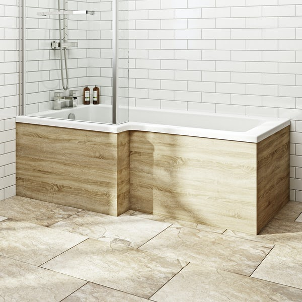 Wye oak 1700 boston square shower bath front panel