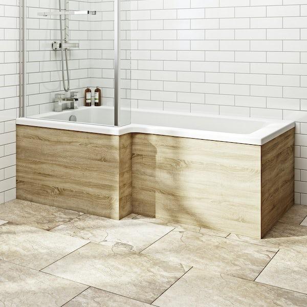 Orchard Wye oak shower bath panel pack 1700 x 700