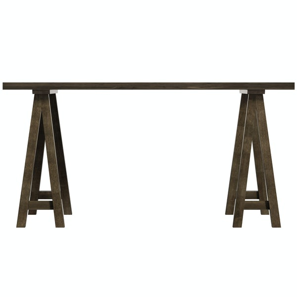 Hudson walnut trestle table with 4 x Hudson light cyan dining chairs