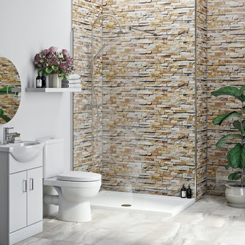 Multipanel Economy Rustic Brick shower wall single panel