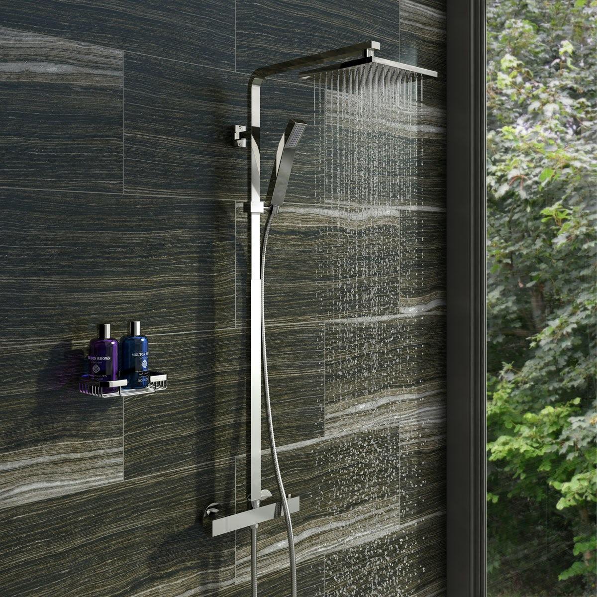 Orchard Wye thermostatic bar valve shower system   VictoriaPlum.com