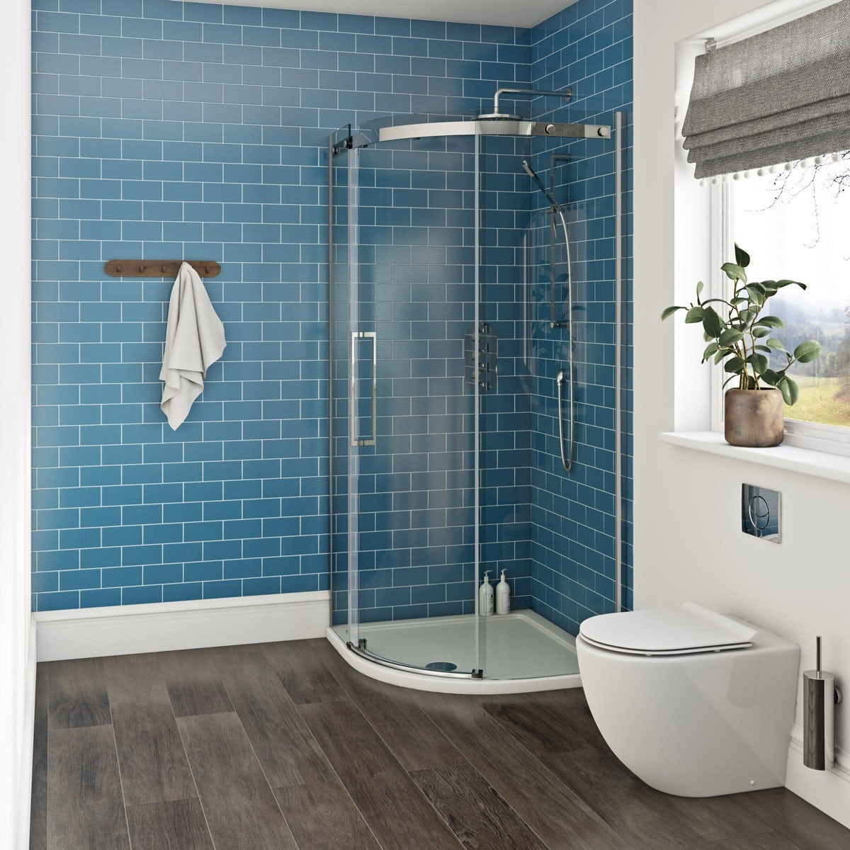 Mode Harrison 10mm quadrant shower enclosure 900 x 900 offer pack