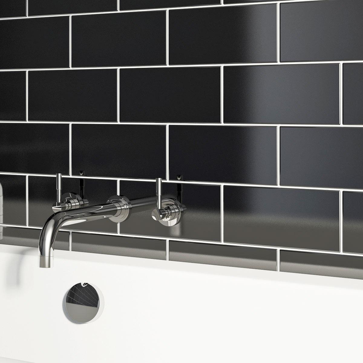 Black gloss tiles floor choice image tile flooring design ideas british ceramic tile metro flat black gloss tile 100mm x 200mm british ceramic tile metro flat dailygadgetfo Gallery