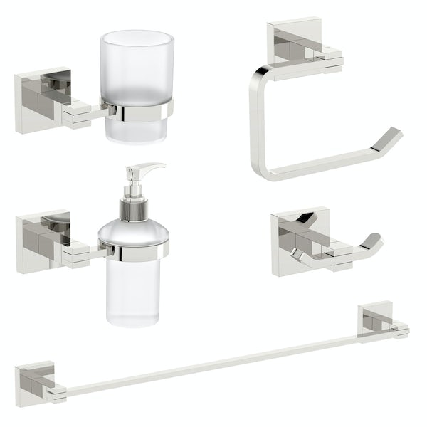 Orchard Derwent square ensuite 5 piece accessory set