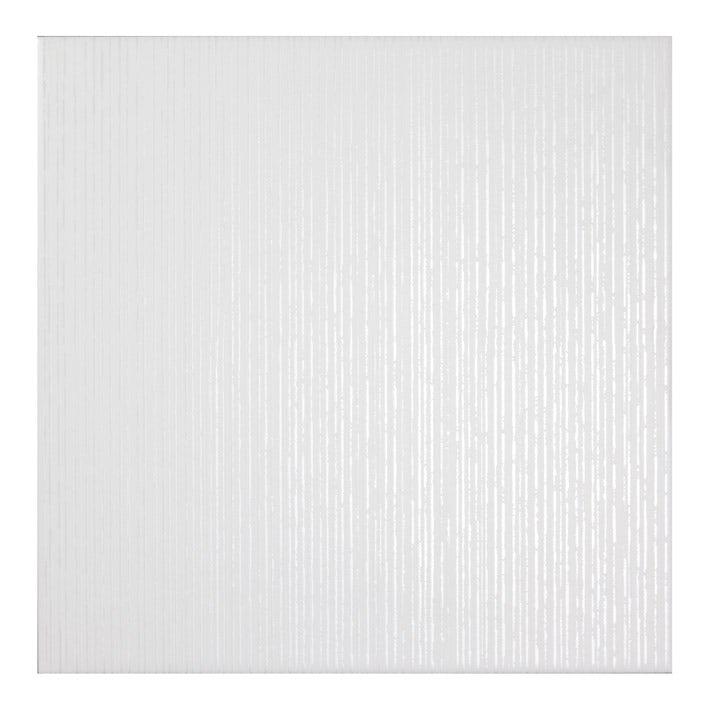 Laura Ashley Cottonwood linear white floor tile 331m x 331mm