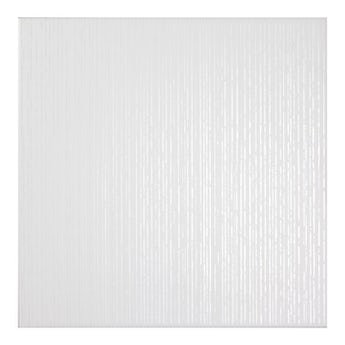 Laura Ashley white cottonwood linear gloss floor tile 331m x 331mm