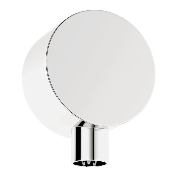 SmarTap white smart shower system with complete round ceiling shower bath set