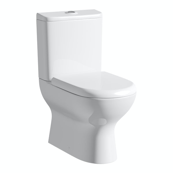 Heath Close Coupled Toilet inc Luxury Soft Close Seat