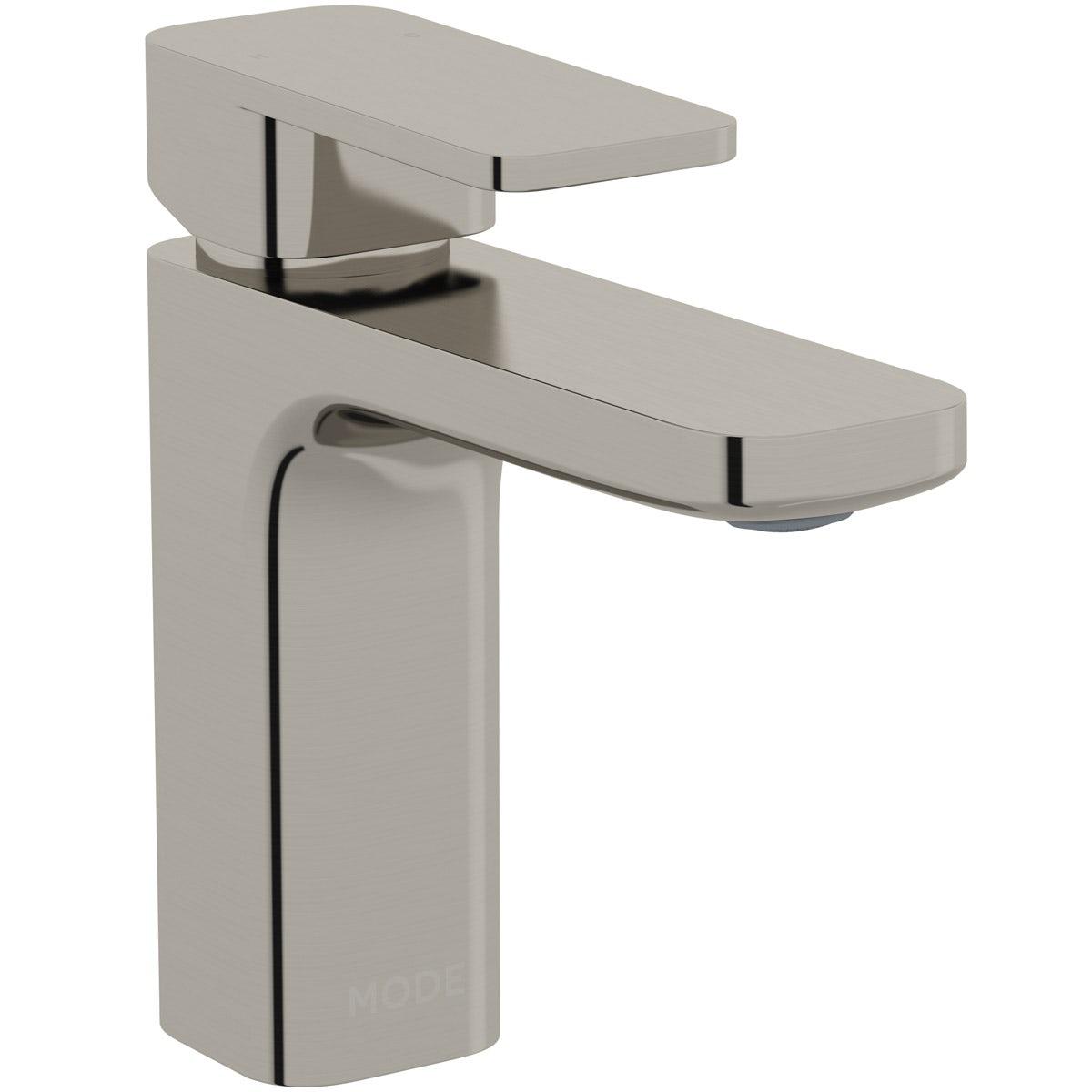 Mode Spencer square brushed nickel basin mixer tap