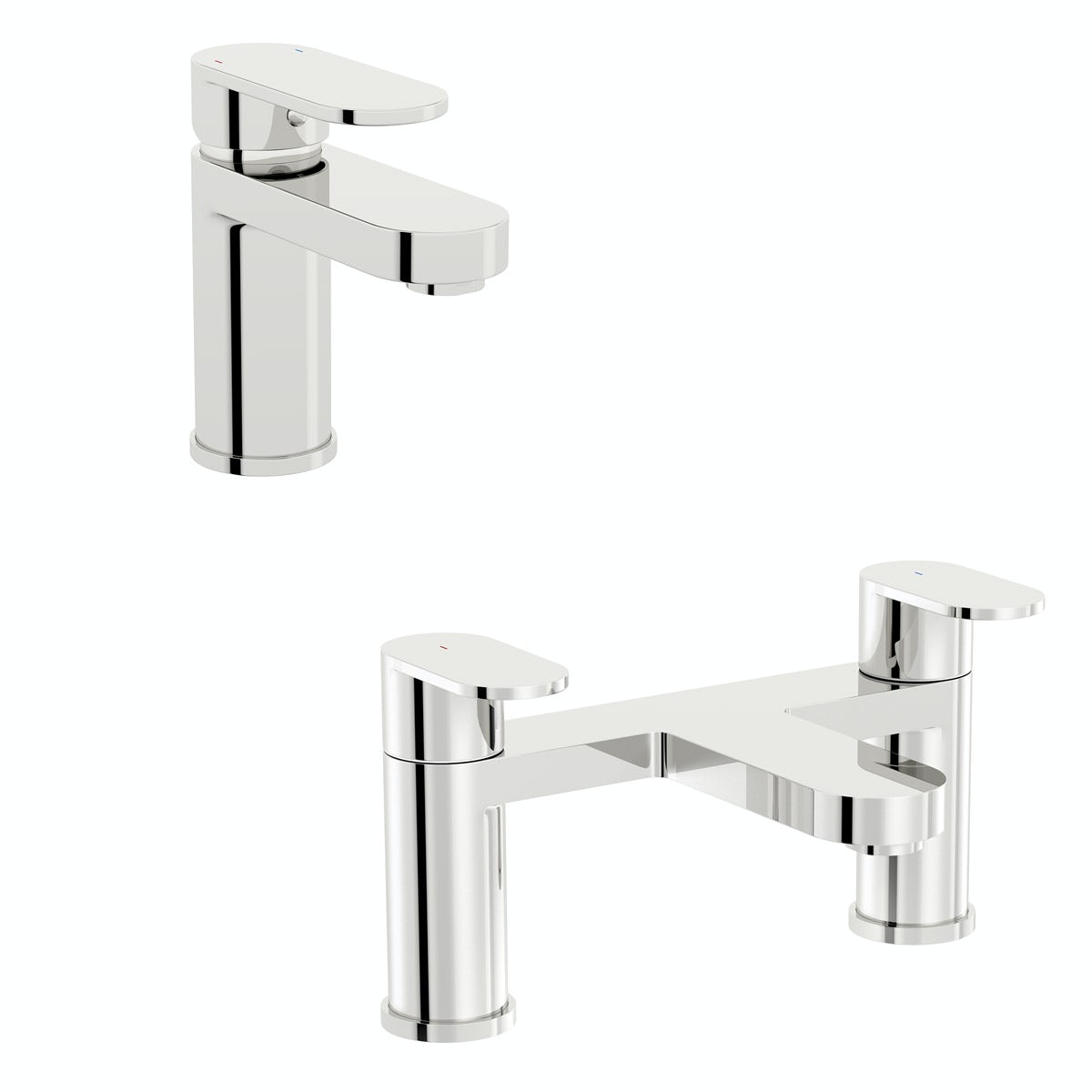 Kirke Curve basin and bath mixer tap pack