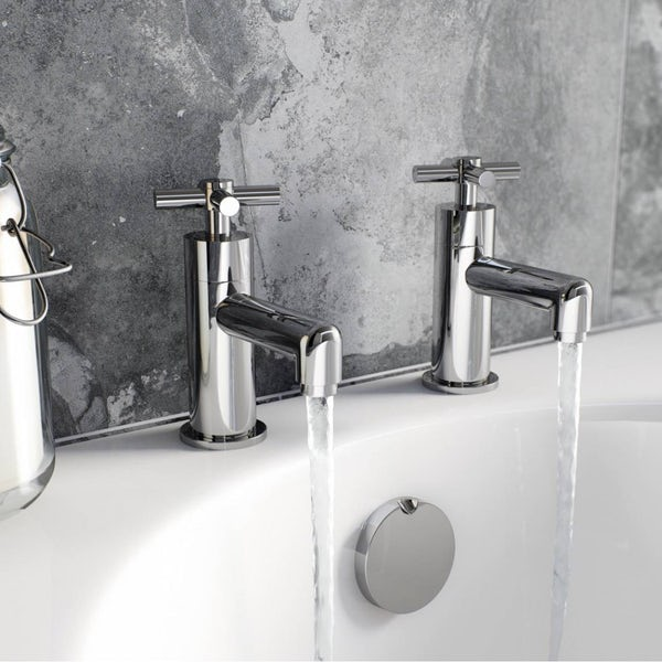 Mode Tate basin and bath tap pack