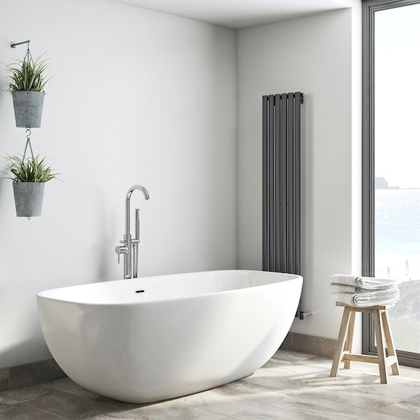 Mode Heath bathroom suite with freestanding bath