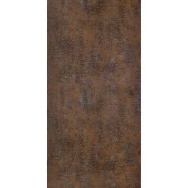 Multipanel Linda Barker Corten Elements unlipped shower wall panel 2400 x 1200