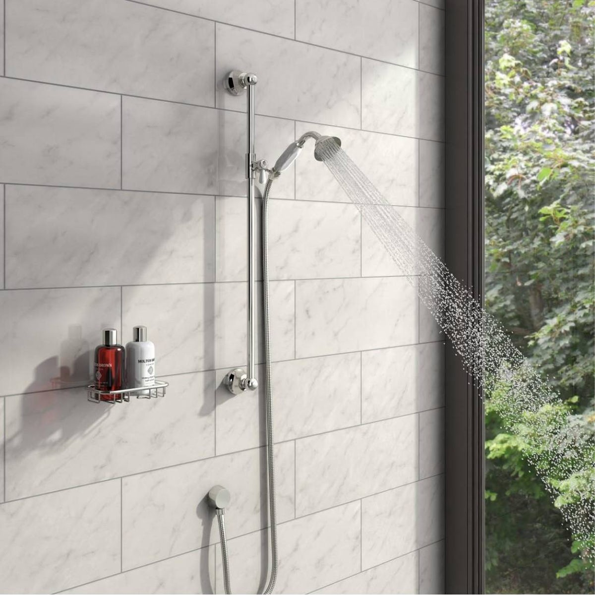 the bath co traditional sliding shower rail kit victoriaplum com traditional slider rail kit