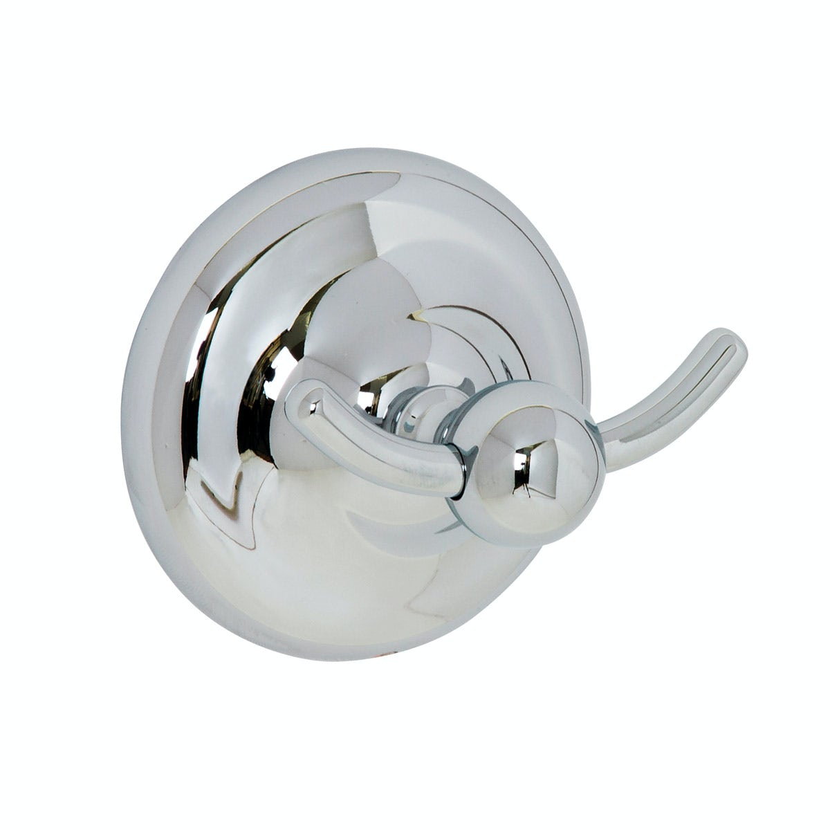 Croydex Grosvenor chrome double robe hook
